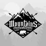 Vector mountain and outdoor adventures logo Royalty Free Stock Images
