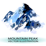 VECTOR mountain peak stylized illustration Royalty Free Stock Images