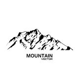 Vector Mountain Range Silhouette. Isolated on white Royalty Free Stock Photo