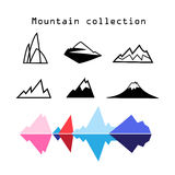 Vector Mountain set Royalty Free Stock Photo