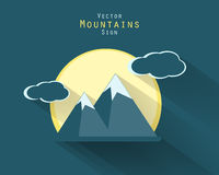 Vector mountains elements Stock Image
