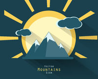 Vector mountains elements Royalty Free Stock Images