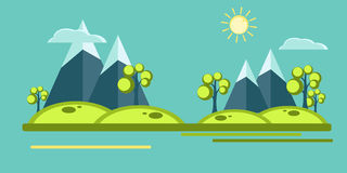 Vector mountains elements Stock Photo