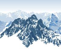 Vector mountains landscape. Winter illustration stock illustration