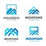 Vector mountains logo design. Vector illustration stock illustration