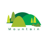 Vector mountains nature set on white background. Vector mountains nature wallpaper set on white background Stock Image