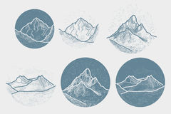 Vector Mountains Tattoo. Stock Photography