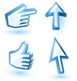 Vector mouse arrow and hand pointers Stock Photo