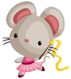A vector of a mouse doing ballet royalty free illustration