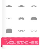 Vector moustaches icon set Royalty Free Stock Photos
