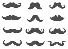 Vector Moustaches Stock Images