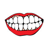 Vector mouth. A vector illustration of a mouth, lips and tooth vector illustration