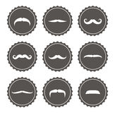 Vector movember mustache labels Royalty Free Stock Photography