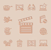 Vector movie icon set. This is file of EPS10 format Stock Photography