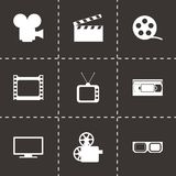 Vector movie icon set Stock Images