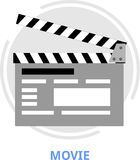 Vector - movie Stock Photo