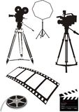 Vector movie. Isolated on white background Royalty Free Stock Photo