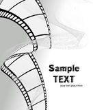 Vector movie/photo film. Illustration on white background Royalty Free Stock Images