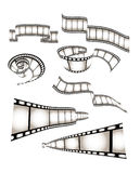 Vector movie/photo film. Isolated illustration on white background Stock Photography
