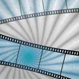Vector: movies film blue light background Royalty Free Stock Photography