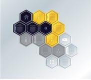 Vector mozaïekmalplaatje. De veelhoeken van Colorfuly met ruimte voor uw t Stock Afbeelding