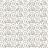 Vector Muffins Seamless Pattern. Cakes, Sweets. Stock Photos