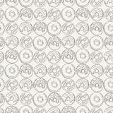 Vector Muffins Seamless Pattern. Cakes, Sweets. Stock Image