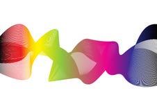 Vector multi bunte Wellenlinien Hintergrund des abstrakten Regenbogens Lizenzfreie Stockfotos