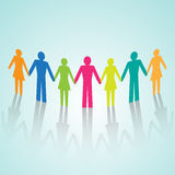 Vector multi-color human community pictograms Royalty Free Stock Photos