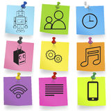 Vector of Multi-Colored Sticky Notes Icons Concept Royalty Free Stock Photography