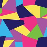 Vector Multi coloured seamless pattern background of free formgeomteric shapes. royalty free illustration