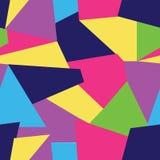 Vector Multi gekleurde naadloze patroonachtergrond van vrije formgeomteric vormen royalty-vrije illustratie