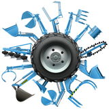 Vector Multi Tractor Wheel Royalty Free Stock Photo