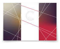 Vector multicolor brochure template. Stylish multicolor crystal. Can be used as flyer, cover, business cards, envelope, and brochure background Royalty Free Stock Photo