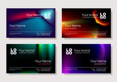 Vector. Multicolor business card Royalty Free Stock Image