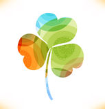 Vector multicolor clover, trefoil Royalty Free Stock Photo