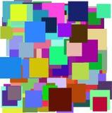 Vector multicolor de los cuadrados Imagen de archivo