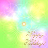 Vector multicolor pastel holiday background Royalty Free Stock Photo