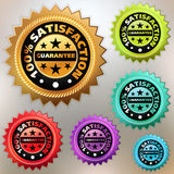 Vector multicolor satisfaction labels set. EPS 8 Stock Image
