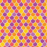 Vector Multicolor Scallops Scales Seamless Pattern Background stock illustration