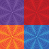 Vector multicolor set of backgrounds with flower. Royalty Free Stock Image