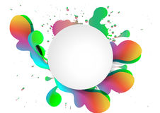 Vector multicolor splat and a frame background Stock Photography