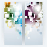 Vector multicolor transparent square elements background Royalty Free Stock Images