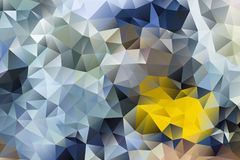 Vector multicolored abstract background of effect geometric triangles.  Stock Photography
