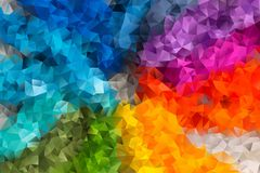 Vector abstract background of triangles. Vector multicolored abstract background of effect geometric triangles Stock Photos