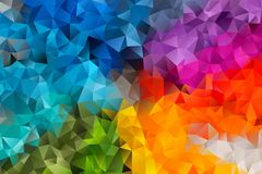 Vector abstract background of triangles. Vector multicolored abstract background of effect geometric triangles vector illustration