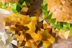 Vector abstract background of triangles. Vector multicolored abstract background of effect geometric triangles Royalty Free Stock Photos
