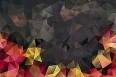 Vector multicolored abstract background of effect geometric triangles.  Royalty Free Stock Image