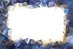 Vector multicolored abstract background of effect geometric triangles.  Stock Photo