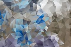 Vector multicolored abstract background of effect geometric triangles.  Royalty Free Stock Photography